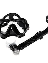 Diving Masks Snorkels Swim Mask Goggle Snorkel Set Dry Top Diving / Snorkeling Glass silicone for Unisex-SBART