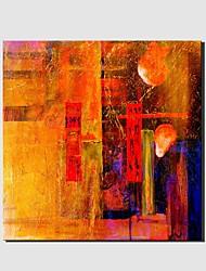 Pintados à mão Abstrato Fantasia Horizontal Panorâmica,Moderno Clássico 1 Painel Tela Pintura a Óleo For Decoração para casa