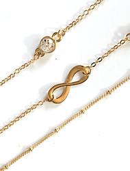 3pcs/set Bracelet Chain Bracelet Alloy Infinity Movie Jewelry Handmade Bohemia Wedding Party Birthday Engagement Valentine Gifts Jewelry