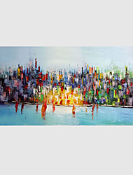 Ručně malované Abstraktní Horizontálně,Moderní Jeden panel Plátno Hang-malované olejomalba For Home dekorace