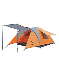 cheap -3-4 persons Tent Single Camping Tent One Room Family Camping Tents Waterproof Windproof Rain-Proof Anti-Mosquito Breathability for Hiking