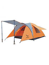 economico -3-4 persone Tenda Singolo Tenda da campeggio Una camera Tende da campeggio formato famiglia Ompermeabile Antivento Anti-pioggia