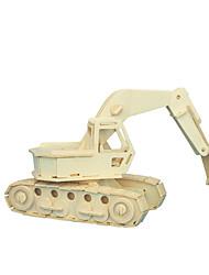 Kit fai-da-te Costruzioni Puzzle 3D Gioco educativo Puzzle Modellini di legno Giocattoli Macchina Escavatrice Livello professionale 1