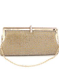 cheap -Women's Bags Polyester Evening Bag Crystal / Rhinestone / Metallic Gold / Black / Silver