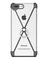 Per Con supporto Supporto ad anello Custodia Antiurto Custodia Tinta unita Resistente Alluminio per AppleiPhone 7 Plus iPhone 7 iPhone 6s