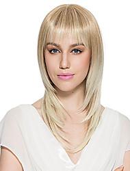 economico -Donna Parrucche sintetiche Dritto Kinky liscia Blonde Parrucca naturale Parrucca per travestimenti