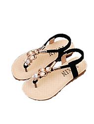 Sandály-Látka-PohodlnéČerná Béžová-Běžné-Plochá podrážka