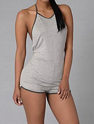 cheap -Women's Slim Romper - Solid, Backless High Rise Halter