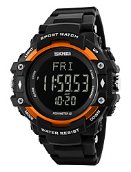 cheap -Men's / Women's Sport Watch / Wrist Watch / Digital Watch Heart Rate Monitor / Alarm / Calendar / date / day Rubber Band Luxury Black / Water Resistant / Water Proof / Pedometers / LCD / Stopwatch