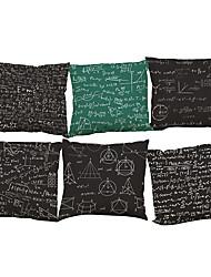 Set of 6 Physical formula pattern   Linen Pillowcase Sofa Home Decor Cushion Cover (18*18inch)