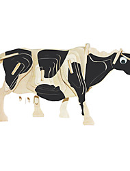 cheap -Jigsaw Puzzles Wooden Puzzles Building Blocks DIY Toys Milk Cow 1 Wood Ivory Model & Building Toy