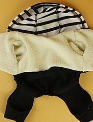 preiswerte -Hund Mäntel Overall Hundekleidung Lässig/Alltäglich Sport Streifen Schwarz/Weiß Kostüm Für Haustiere