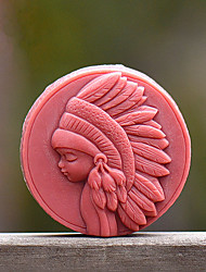 cheap -Forest Girl Soap Mold DIY Silicone Soap Mold Handmade Soap Salt Carved DIY Silicone Food Grade Silicone Mold