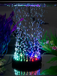 Aquarium LED Lighting Multicolored Light Air Stones Noiseless LED Lamp 220V