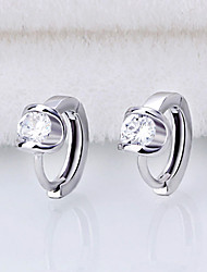 cheap -Earrings 925 Sterling Silver AAA Zircon Hoop Earrings Jewelry Wedding Party Daily Casual