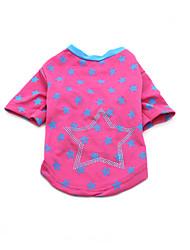 Hund T-shirt Hundekleidung Niedlich Lässig/Alltäglich Modisch Sport Sterne Schwarz Blau Rosa Kostüm Für Haustiere