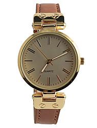 abordables -Mujer Reloj de Pulsera Reloj de Moda Reloj Casual Cuarzo / Gran venta PU Banda Vintage Casual Marrón