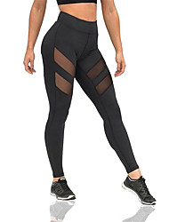 cheap -Yoga Pants Pants/Trousers/Overtrousers Breathable Comfortable Compression Sweat-wicking Natural Stretchy Sports Wear Black Women'sYoga