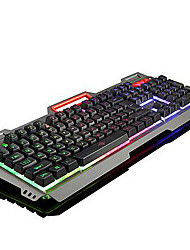 USB Gaming Ergonomic keyboard Multimedia keyboard Multi Color Backlit #