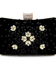 Women Bags Polyester Velvet Evening Bag Crystal/ Rhinestone Acrylic Jewels for Wedding Event/Party Casual Formal Office & Career Winter