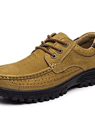 cheap -Men's Shoes Nappa Leather Spring Summer Fall Winter Comfort Oxfords Hiking Shoes for Athletic Casual Work & Safety Outdoor Light Brown