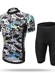 XINTOWN Maillot et Cuissard de Cyclisme Homme Manches Courtes Vélo Cuissard  / Short Maillot Ensemble de Vêtements Séchage rapide Zip