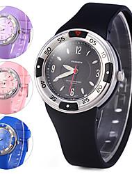 Жен. Спортивные часы Нарядные часы электронные часы Цифровой Pезина Группа Cool Черный Синий Розовый Фиолетовый