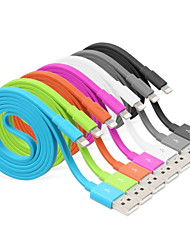 cheap -USB 3.0 Lightning USB Cable Adapter Data & Sync Charger Cord Charging Cable Cord Normal Cables Cable For iPad Apple iPhone 100 cm Rubber