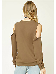 Army green winter new wild sexy strapless long-sleeved sweater hedging loose casual shirt female