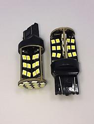 alto potere bianco 10w t20 7443 W21W 60SMD 2835 LED chip di backup lampadina invertire 2pcs lampada DC12V