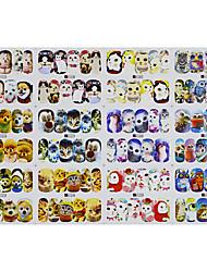 1pcs 12design Hot Cute Animal Design Nail Art DIY Sticker Water Transfer Decals Nail Art Beauty A1273-1284