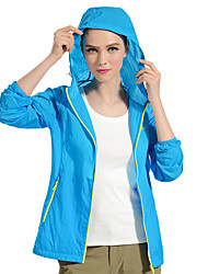 cheap -PELLIOT Women's Hiking Raincoat Outdoor Waterproof Quick Dry Windproof Ultraviolet Resistant Wearable Breathable Lightweight Materials