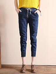 firman los pantalones vaqueros 2017 pantimedias canción sencilla ancho de banda elástica pantalones pies pantalones femeninos Halun