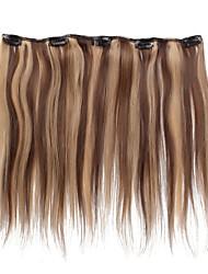 abordables -Con Clip Extensiones de cabello humano Recto Cabello humano Castaño Medio / Strawberry Blonde Marrón oscuro / Strawberry Blonde Brown medio / Bleach Blonde