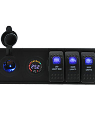 DC 24V LED Digital voltmeter power Socket with toggle rocker switch jumper wires and housing holder