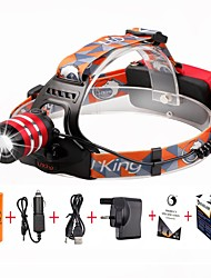 cheap -U'King Headlamps Headlight LED 2000 lm 3 Mode Cree XM-L T6 with Battery and Chargers Zoomable Adjustable Focus Easy Carrying High Power
