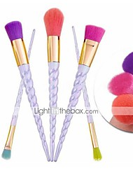 5Conjuntos de pincel Pincel para Blush Pincel para Sombra Pincel de Sombrancelha Pincel para Corretivo Pincel para Pó Pincel para Base