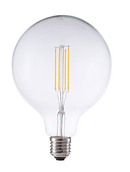 economico -4W E26/E27 Lampadine LED a incandescenza G125 4 leds COB Oscurabile Decorativo Bianco caldo 450lm 2700K AC 220-240V