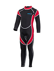 HISEA® Kid's Wetsuits Anti-Eradiation Diving Suit Long Sleeve Diving Suits-Diving Spring Summer Fall/Autumn Winter ClassicBlack/Red