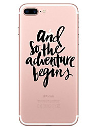 For Apple iPhone 7 7 Plus 6S 6 Plus Case Cover Letter Pattern Painted High Penetration TPU Material Soft Case Phone Case