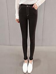 Koreanische Version des schlanken war dünnen elastischen äußeren Verschleiß engen schwarzen Jeans-Leggings