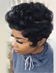 abordables -Cheveux pelucheux naturels courtes et naturelles cheveux perruques capless sans chaleur pour les femmes 2017