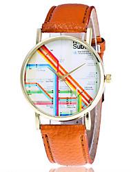 Damen Modeuhr Armbanduhr Quartz Leder Band Streifen Cool Bequem Kreativ Schwarz Weiß Braun Grün Grau Weiß Schwarz Grau Braun Grün