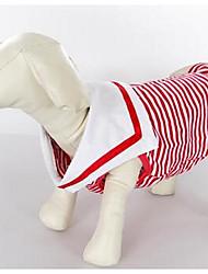 preiswerte -Hund T-shirt Hundekleidung Niedlich Lässig/Alltäglich Streifen Rosa Schwarz/Weiß Kostüm Für Haustiere