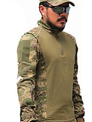 abordables -Homme Manches Longues Tee-Shirt de Chasse Tactique Classique Hauts/Top pour Chasse Sport de détente M L XL XXL