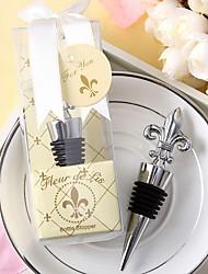 cheap -Fleurs-de-lis Design Chrome Wine Bottle Stopper\ Wedding Favors