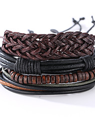 cheap -Men's Leather Bracelet Costume Jewelry Vintage Punk Leather Round Jewelry For Anniversary Birthday Gift Sports Valentine
