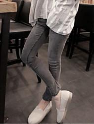 il nuovi jeans femminili fumo grigio era matita pantaloni sottili stretti pantaloni stretch sottile piedi marea coreano