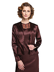 cheap -Stretch Satin Wedding Party Evening Women's Wrap With Button Coats / Jackets