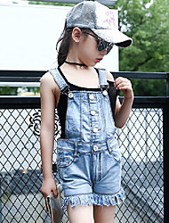 cheap -Girls' Daily Solid Jeans Summer